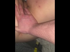 He fingers me and fills me with cum